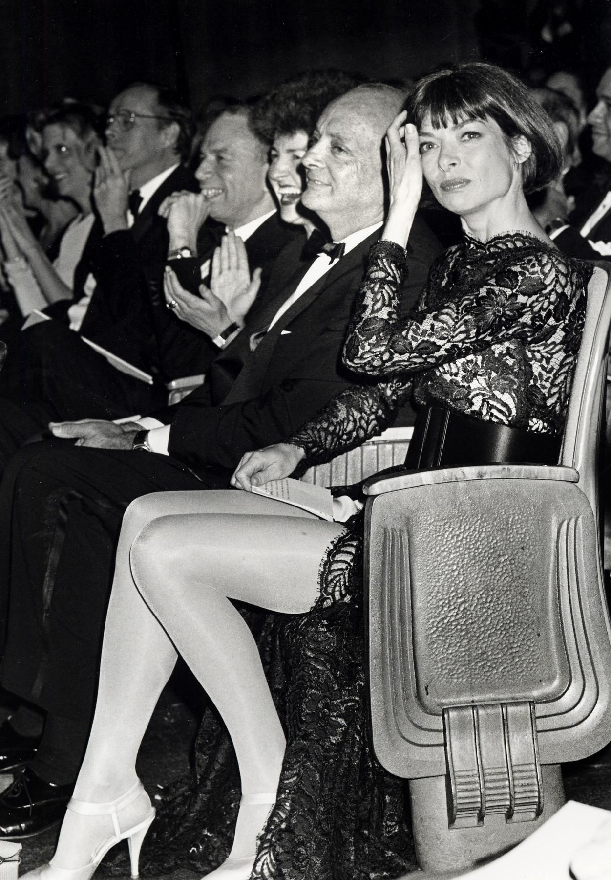 ANNA WINTOUR  February 25, 1991  With David Schaffer at the CFDA Awards in New York City. Photo: Ron Galella/WireImage