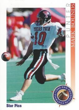 1992 Star Pics #81 Mark Bounds Front