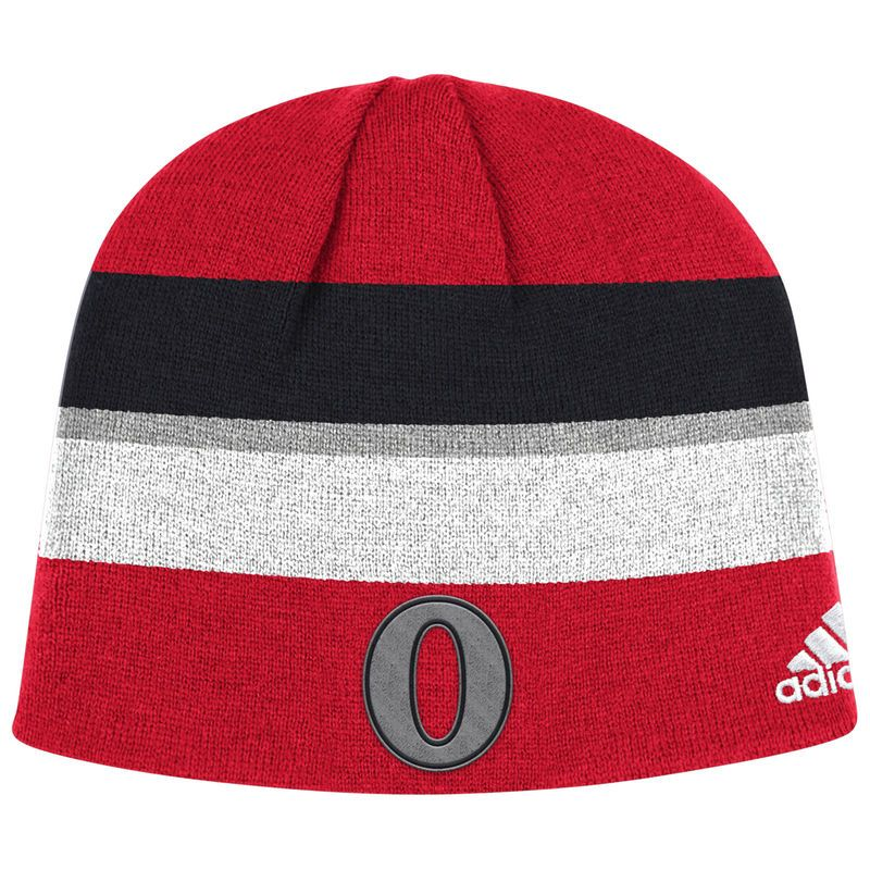 super popular fcb70 57f74 Ottawa Senators adidas NHL 100 Classic Player Knit Hat – Red