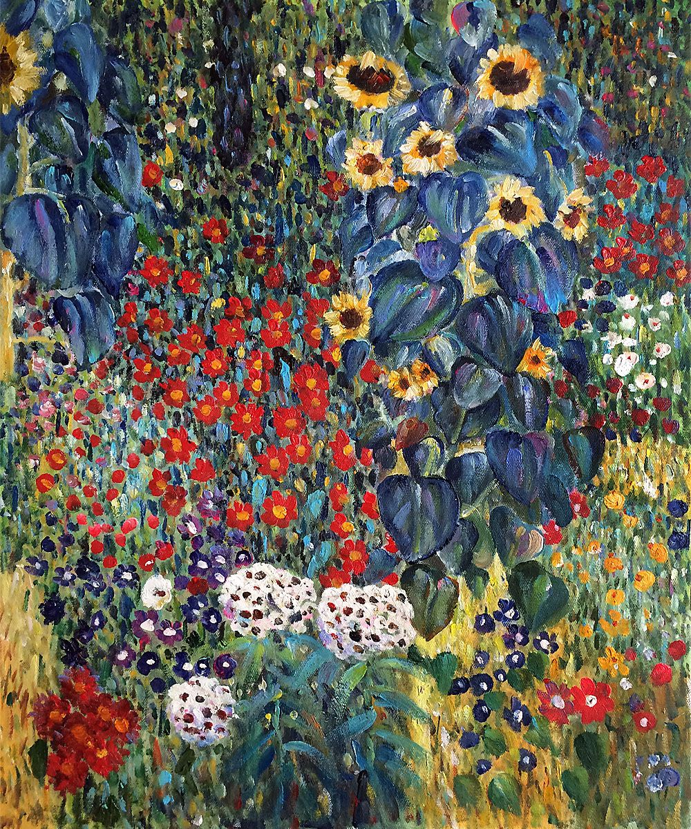 Klimt   Farm Garden With Sunflowers. One Of OverstockArtu0027s Most Popular  Paintings For 2014. Hand Painted Reproductions Are Available In A Variety  Of Sizes ...