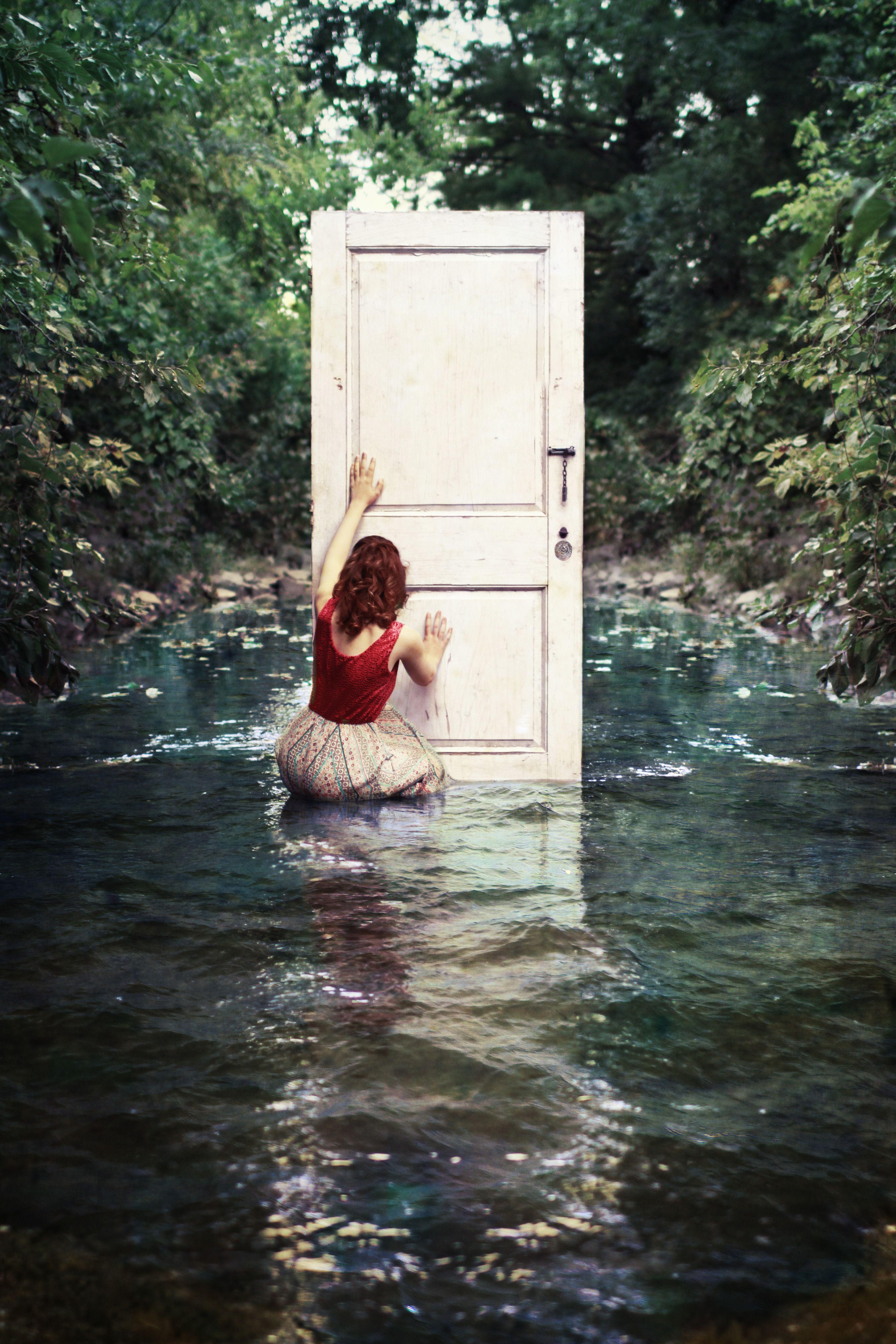 """""""Hope's Door"""" - Senior Portrait by Lauren Richwine, Portrait of a Lady"""