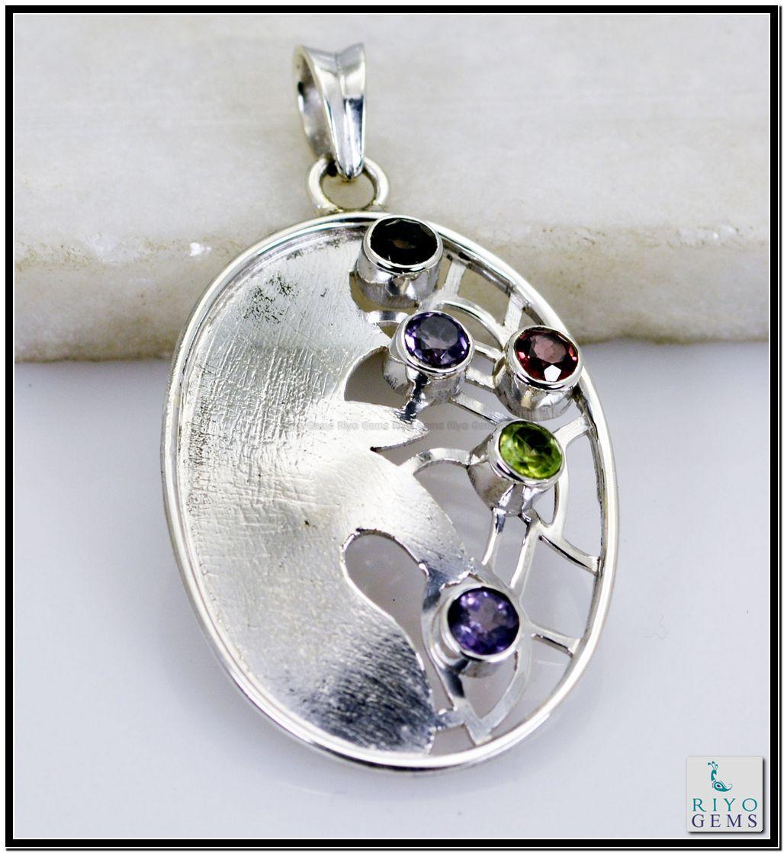 Silver pendant by Riyo Gems www.riyogems.com