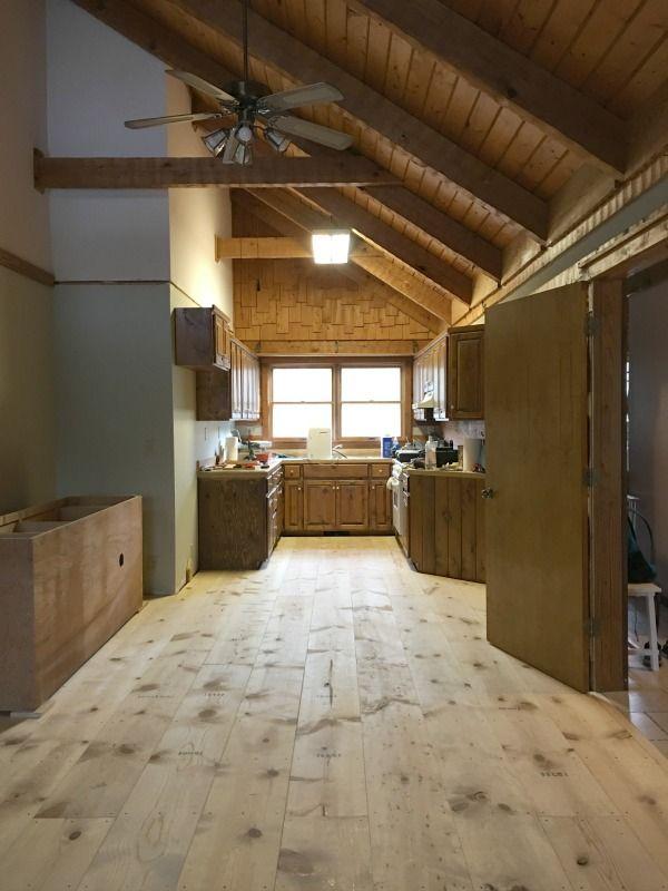 Diy Wide Plank Pine Floors Part 1 Installation Wood Floors Wide Plank Pine Floors Pine Wood Flooring