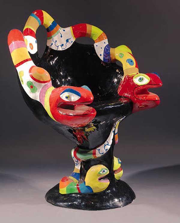 Snake chair by nicky de saint phalle niki de saint phalle pinterest skulpturen st hle - Ausgefallene wohnzimmermobel ...