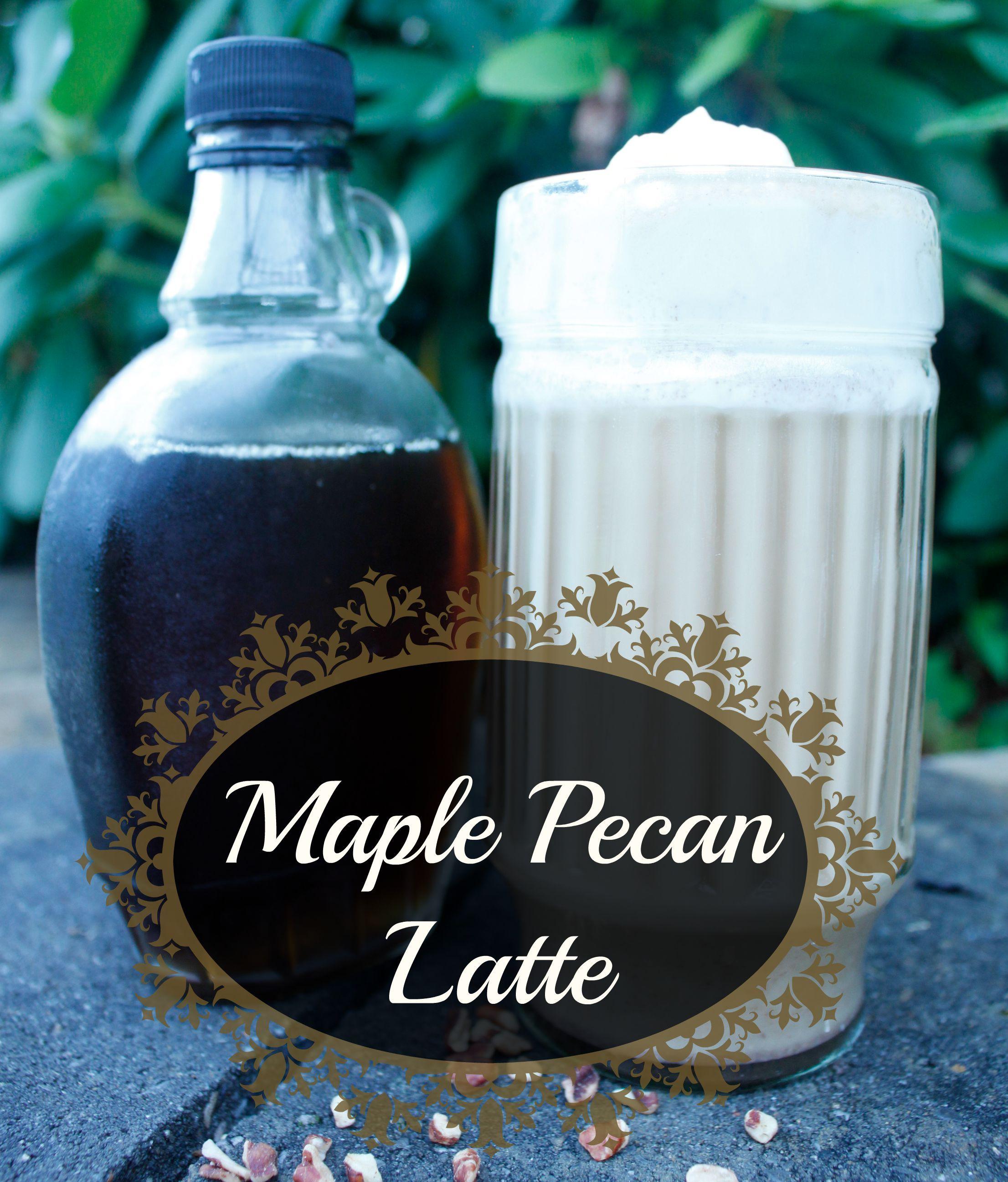 Maple Pecan Latte #diycoffeeshop #natural #norefinedsugar