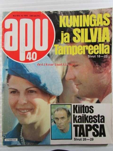 Apu 1979 nro 40 (Juvekim Oy - antikvariaatti Arwo Paperi ... b84c6e5a10