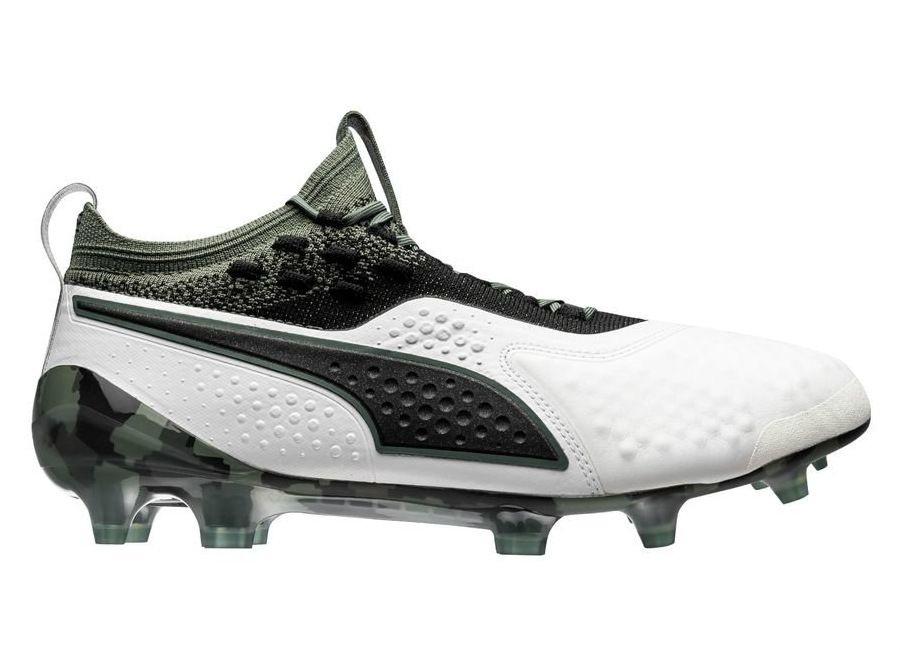 pumafootball  footballboots Puma One 1 LTH FG AG Attack - Puma White    Puma Black   Laurel Wreath 7742b203c20fc