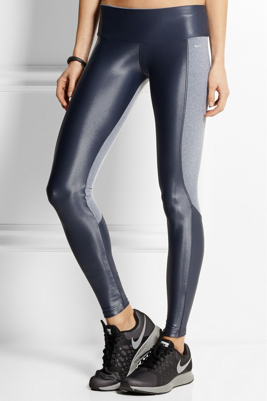 Bodyism | I Am Shiny paneled stretch-jersey leggings | NET-A-PORTER.COM