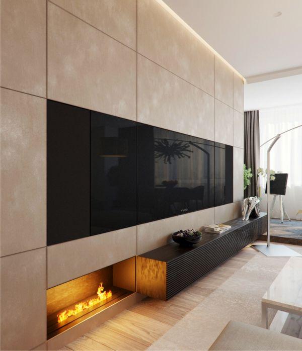 magnificent living room wall design feats | 43 magnificent modern living room designs by Alexandra ...