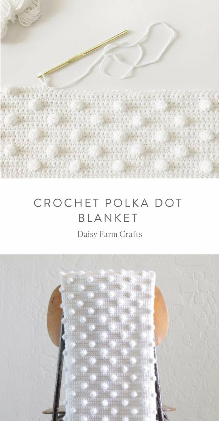 Kostenlose Anleitung – Crochet Polka Dot Blanket