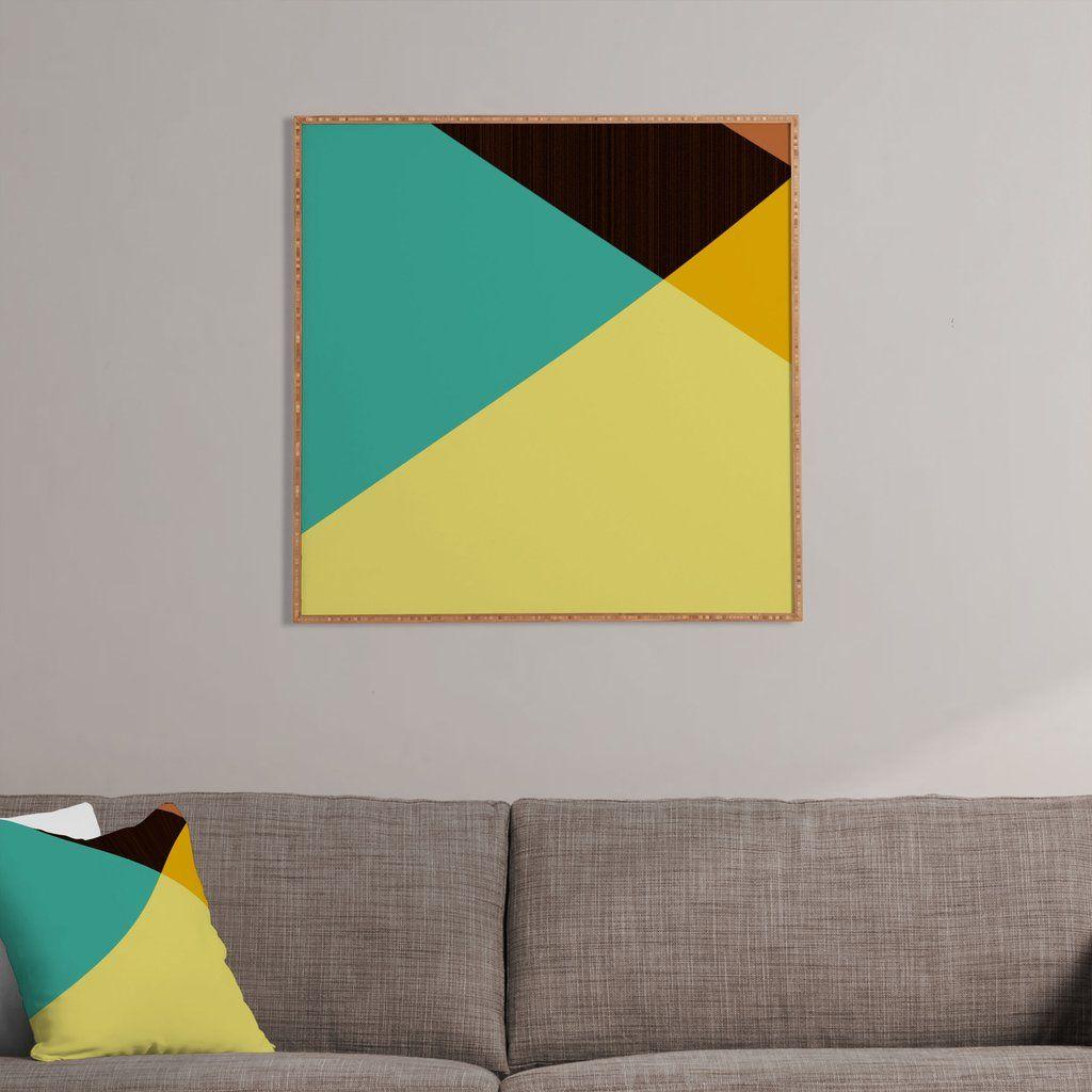 Triangle Footprint Tridiv1 Mega1 Framed Wall Art | Framed wall art ...