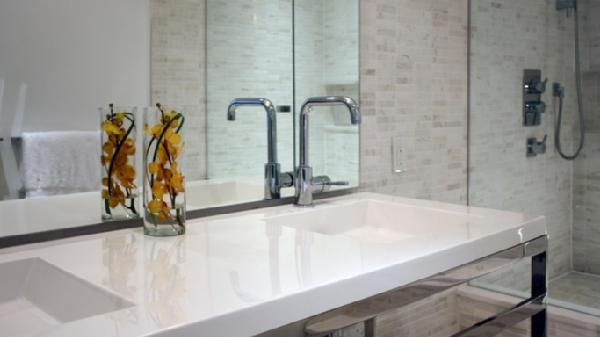 Contemporary Bathroom Countertops suzie: croma design - modern, chic bathroom design with