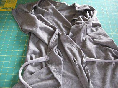 Pumpkin Pie Crafts: Tie Front Cardigan Refashion Tutorial