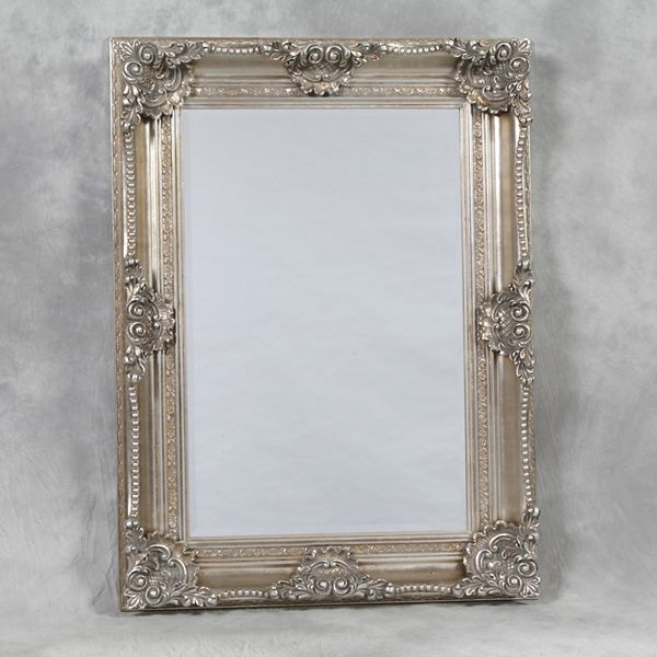 shabby chic mirrors   ... mrm244 classical french ornate silver ...