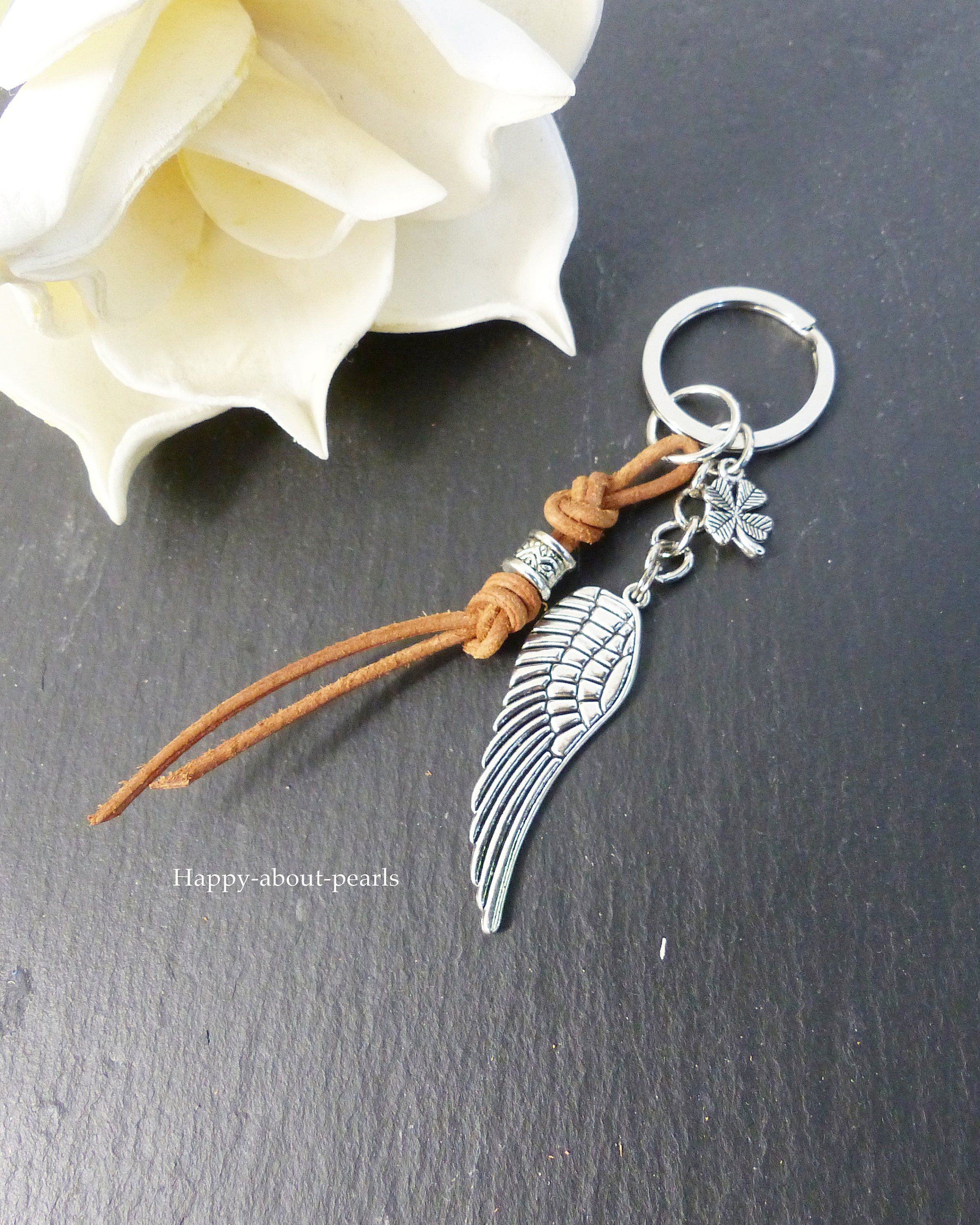 Key Ring Wings Lucky Charm Talisman Car Happyaboutpearls De