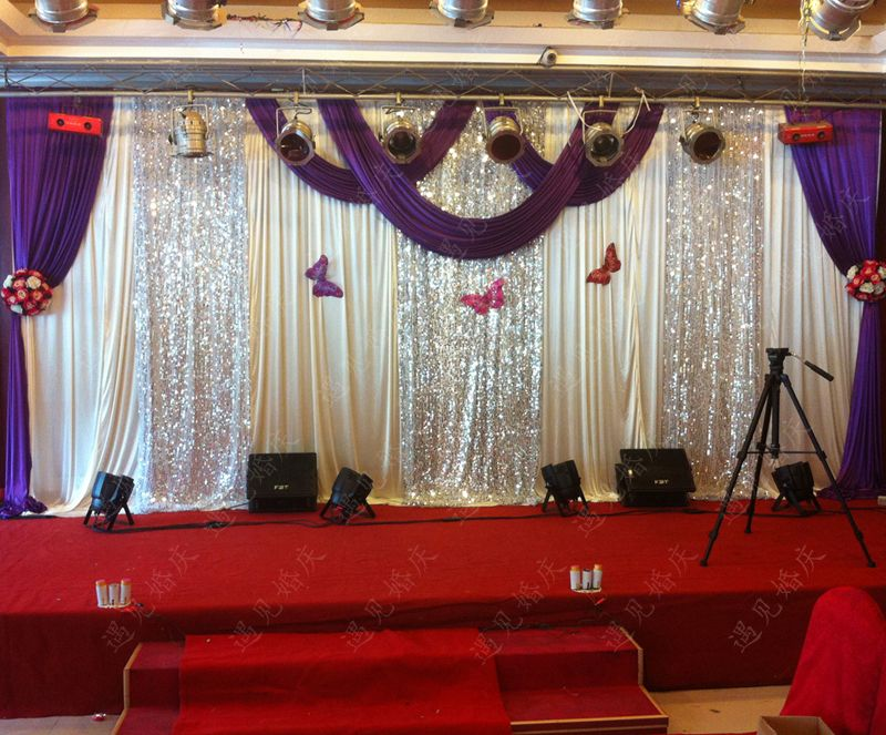 Wedding Curtain Quality D Swags Directly From China Decoration Suppliers 2017 Background High Props
