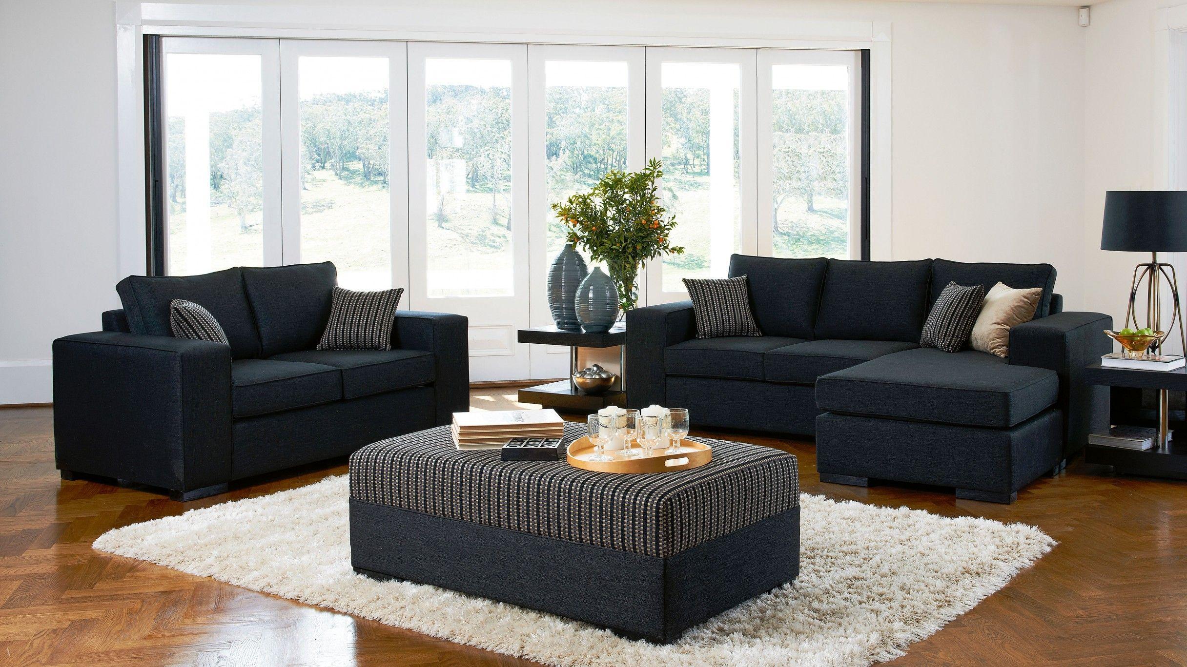 Metro 3 Piece Fabric Lounge Suite Home Ideas