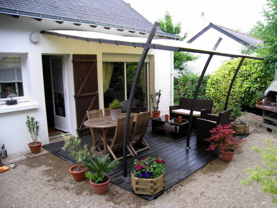 Comment Poser Une Terrasse Composite Sur Lambourdes Et Plots Terrasse Composite Terrasse Terrasse Bois Composite