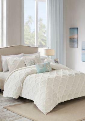 Harbor House Cannon Beach 3 Piece Cotton Chenille Comforter Set #coastalbedrooms