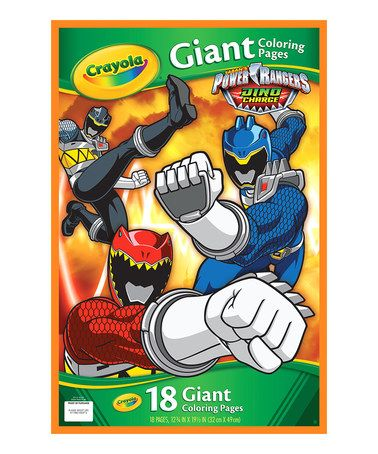 love this power rangers dino charge giant pages coloring book on zulily zulilyfinds. Black Bedroom Furniture Sets. Home Design Ideas