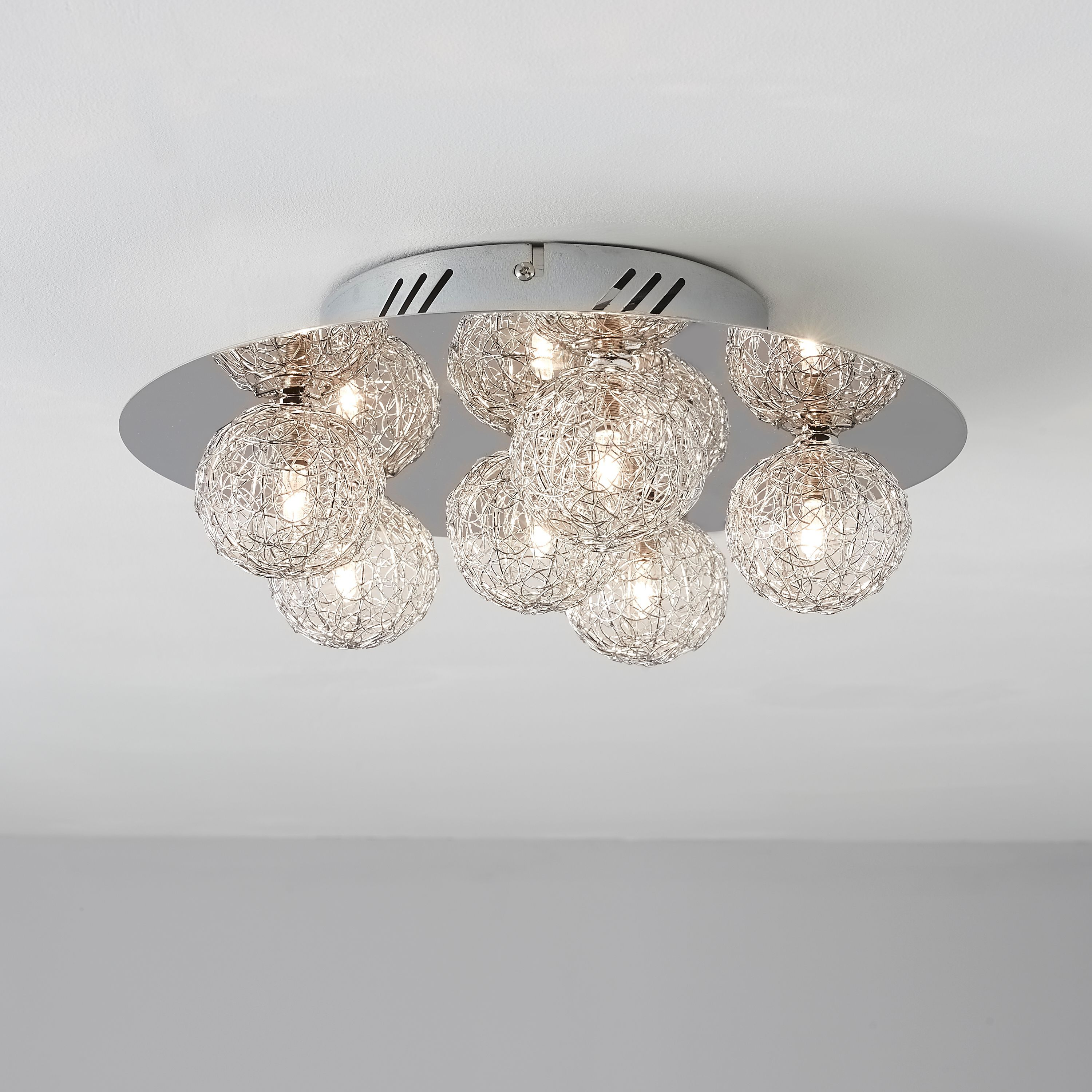 Pallas chrome effect 6 lamp ceiling light departments diy at bq pallas chrome effect 6 lamp ceiling light departments diy at bq mozeypictures Image collections