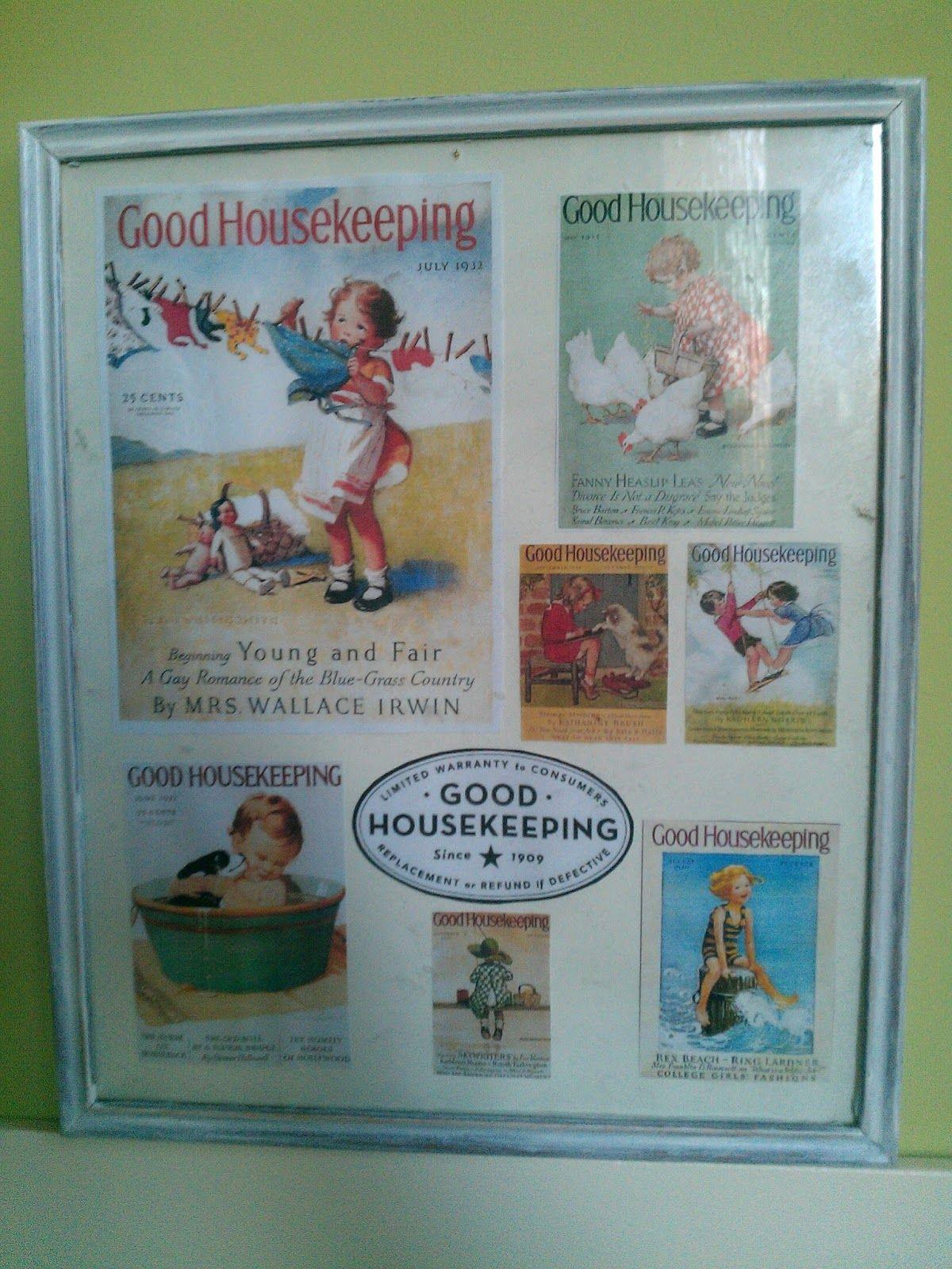 good housekeeping framed picture diy restored picture vintage prints