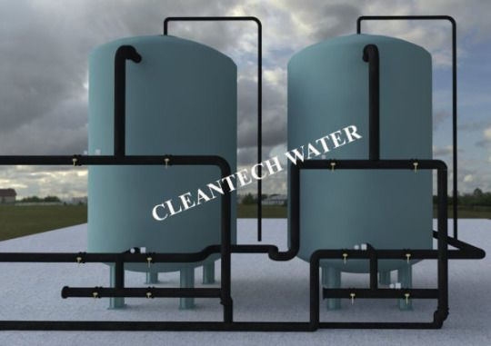 Water Purification Processes By Pressure Sand Filter
