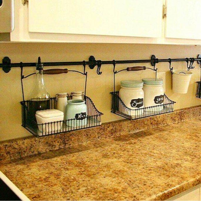 Small Kitchen Organization Hacks How To Organize A With No Pantry Smallkitchenorganization Nopantry Nopantrysolutions