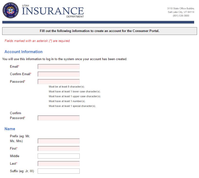 InsuranceCommissionerComplaintsByStateUtahPartOf