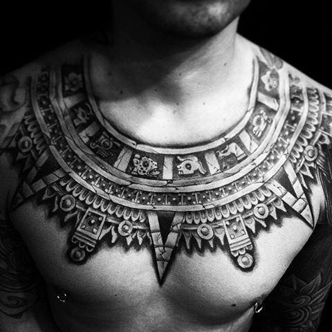 Aztec Temples Tattoos