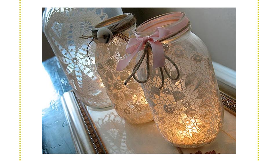 Frascos ideais para uma decoração mais romântica.