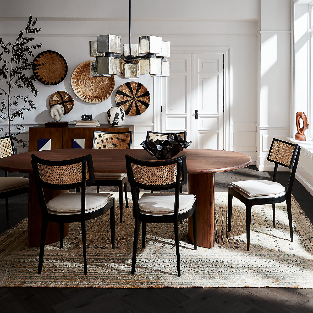 Panos Dining Table Reviews Crate And Barrel Cane Dining Chairs Black Dining Room Modern Dining Room