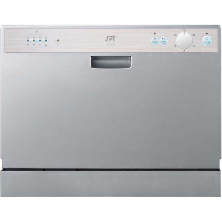 Sunpentown Countertop Dishwasher Delay Start Silver Countertop Dishwasher Countertops Dishwasher