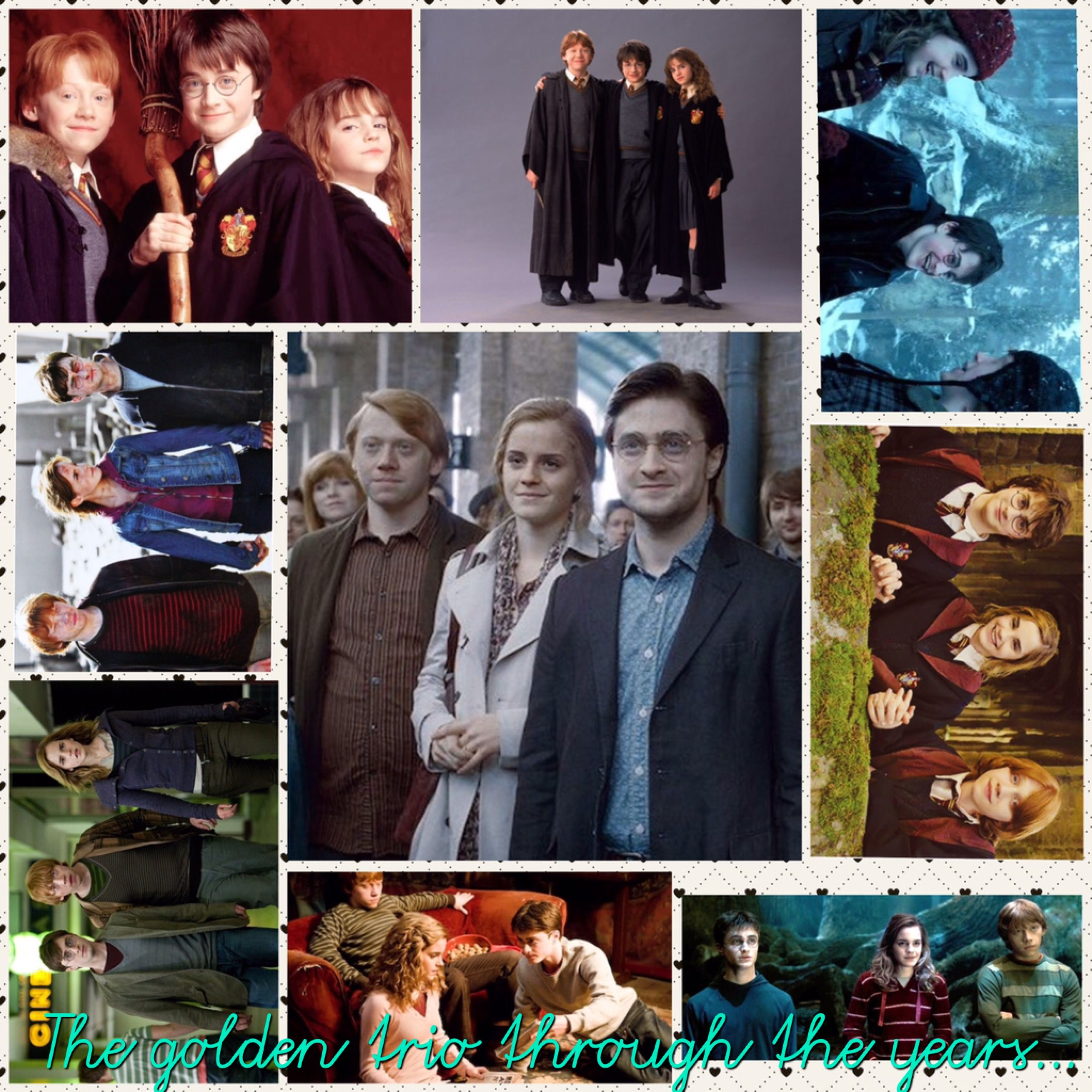 The Golden Trio Through The Years Harry Potter Universal Harry Potter Fantastic Beasts Harry Potter