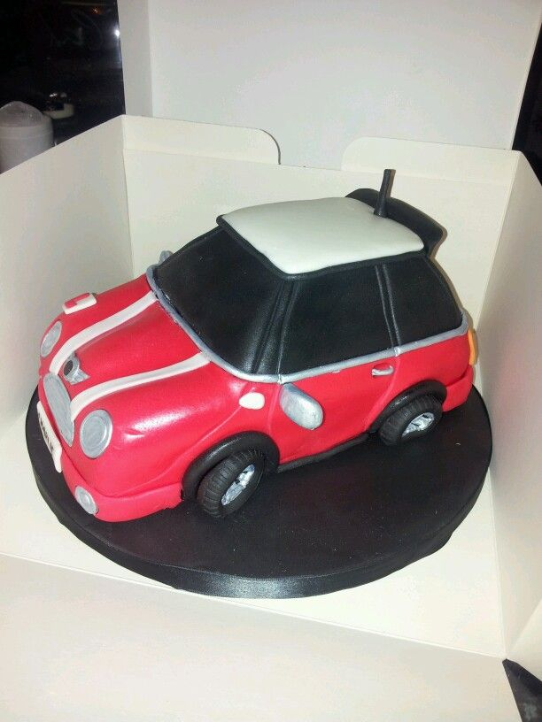 Mini Cooper cake for Ss birthday Mini Mania Pinterest Mini