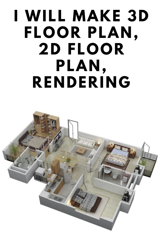 I Will Create 3d Render Realistic 3d Floor Plan Exterior Interior Floor Plans Design Floor Plans Floor Plans Ranch Rendered Floor Plan