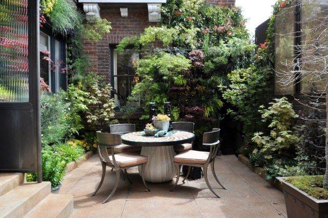 kleine gärten stadtwohnung gestaltungstipps ideen pflanzen möbel - gestaltungstipps terrasse im garten