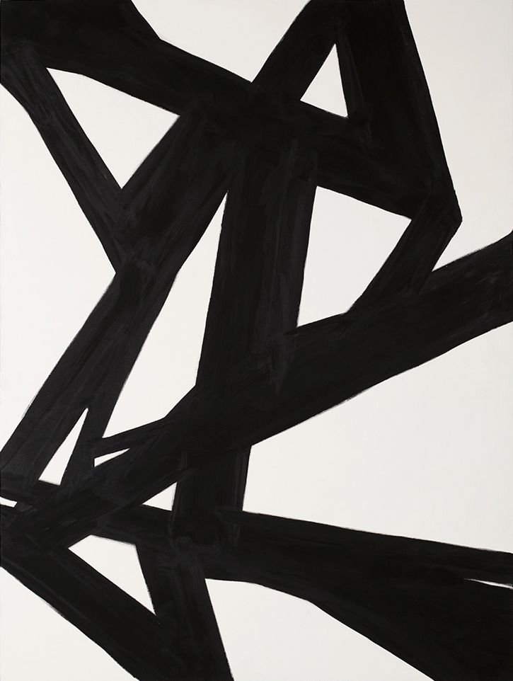 Black White Abstract Painting 2 Coastal Home Decor