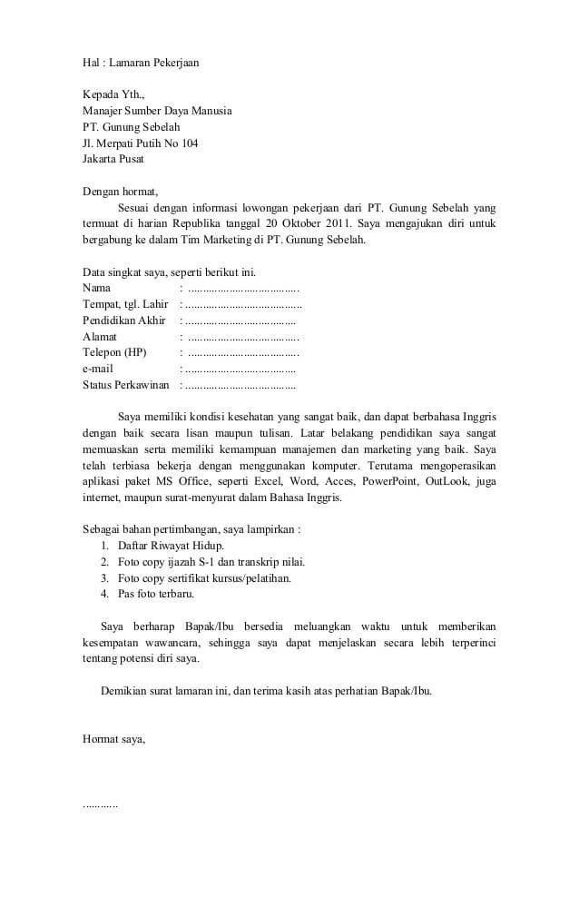 Surat Pengunduran Diri Karyawan Pabrik Garmen