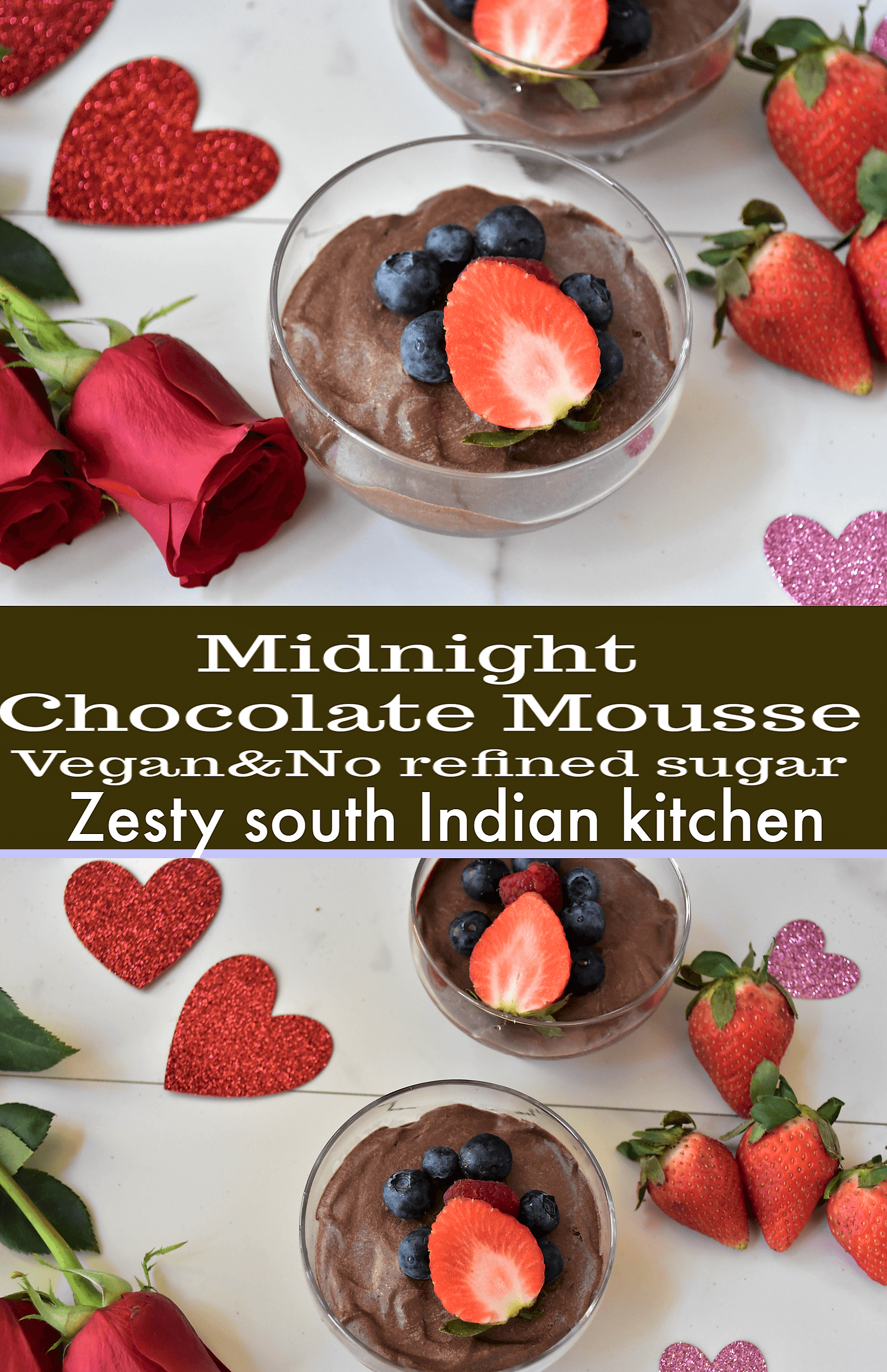 Delicious chocolate mousse with intense chocolate flavor ...