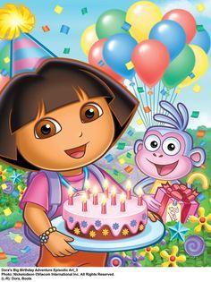 Sensational Dora The Explorer One Bored Mommy Blogspot Dora The Explorer Personalised Birthday Cards Xaembasilily Jamesorg