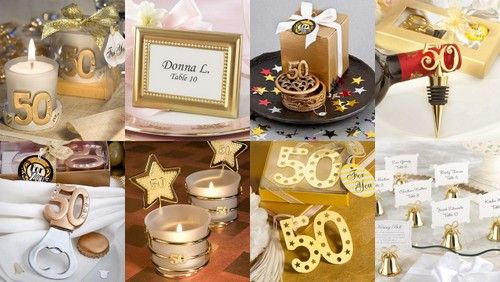50th Wedding Anniversary Gift Ideas Gold: Gold 50th Anniversary Favors