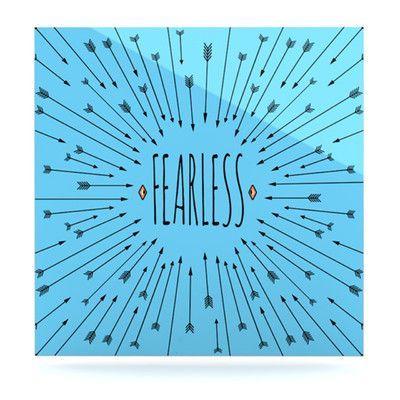 "KESS InHouse Fearless by Skye Zambrana Graphic Art Plaque Size: 8"" H x 8"" W"