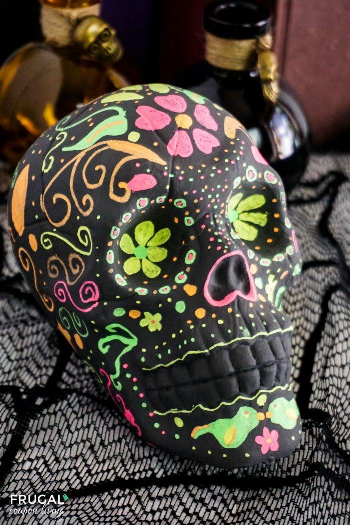 Halloween Dollar Tree Craft Sugar skull crafts, Skull