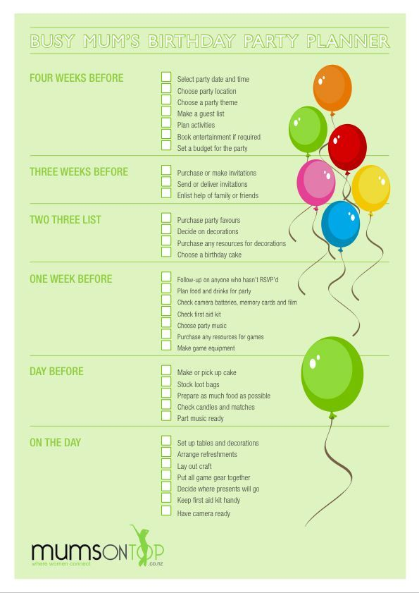 Party Planner and reminder!!!! | Sabrina | Pinterest | Party ...