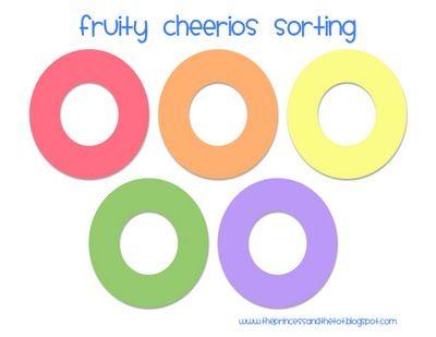 Fruity Cheerios Sorting mat
