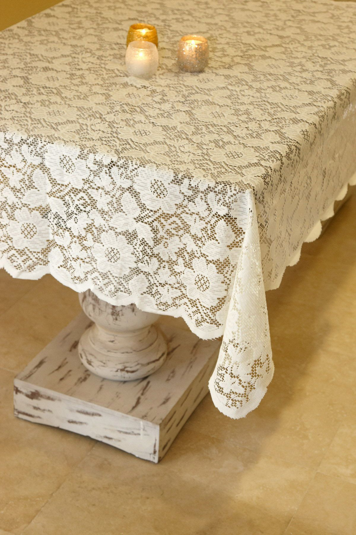 Beau Tablecloth Lace Square Ivory 54in I Love Lace! #wedding #mybigday