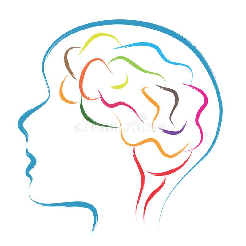 Download Head and brain. Abstract illustration , #affiliate, #brain ...