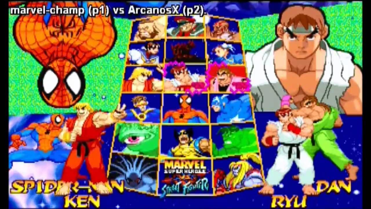 Marvel Super Heroes vs Street Fighter - Fightcade - marvel