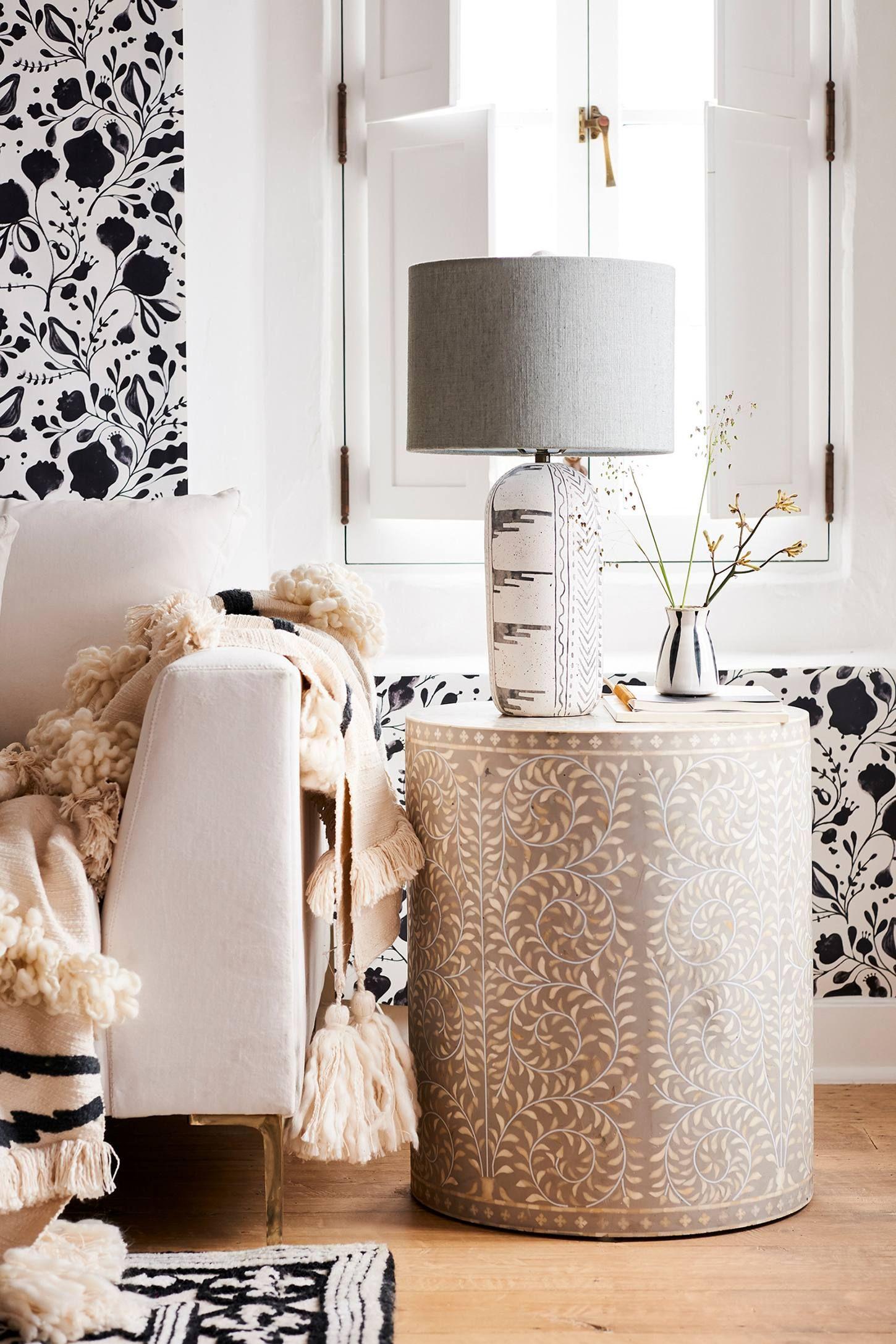 Cozy condo living rooms uteki lamp ensemble ad anthrofave anthroregistry anthropologie